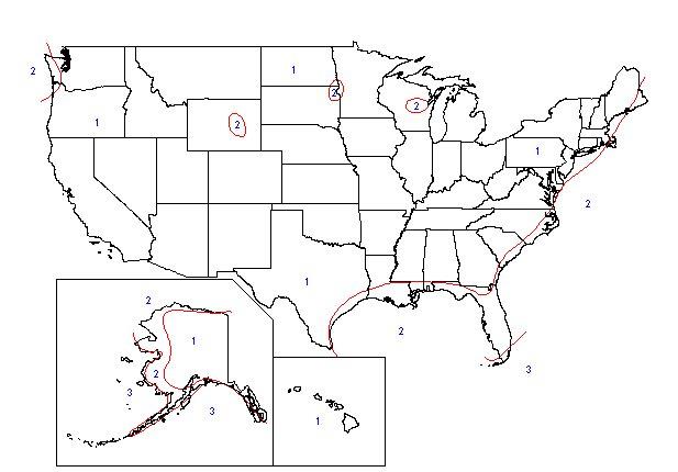High Wind Zone Maps